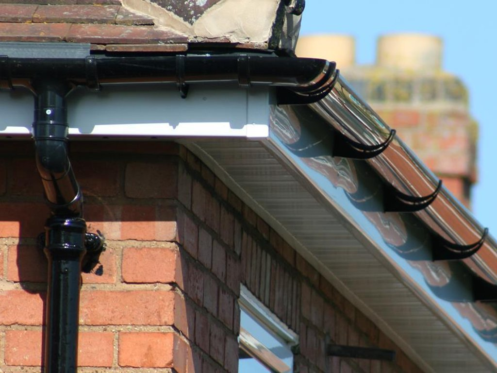 New Black uPVC Gutters